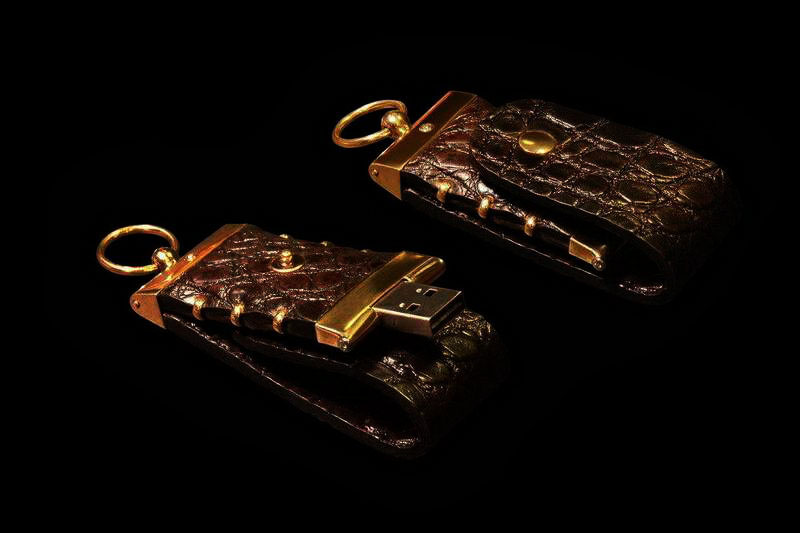 Unique USB 3.0 Flash Drives Crocodile Gold 777