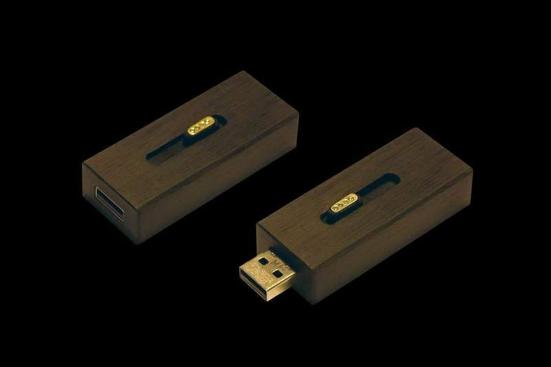 MJ - USB Flash Drive Wood Edition - Ebony, Gold, Jeweler Stones