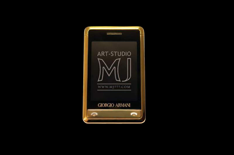 MJ - Samsung Armani Gold AMG Diamond MJ Limited Edition - Gold Case 24 carat, Platinum Buttons Inlaid Brilliant.