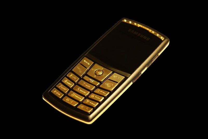 MJ - Samsung x820 Ultra Full Gold 750 Diamond Palladium Edition - Gold Mobile Phone, 18 carat